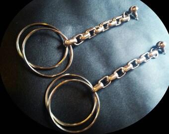 My new fetish metallic earrings.