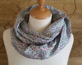Liberty Linen Blue Infinity Scarf
