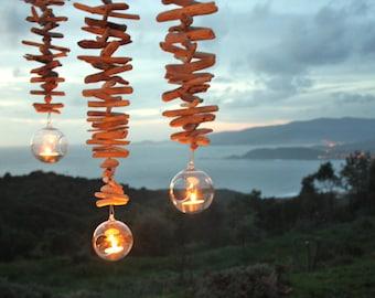 "Trio of hanging lanterns Driftwood ""Nature & co"""