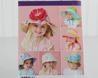 Child's Hats in Four Sizes, UNCUT Sewing Pattern, Simplicity 1682 - Size XS,S,M,L