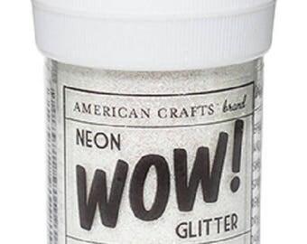Glitter glitter WOW NEON - color white