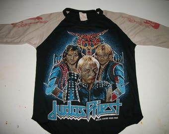 JUDAS PRIEST store shirt 1984-5 Raglan style