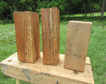Pear and oak turning blanks