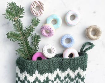 Mini Donut Ornament set (9)