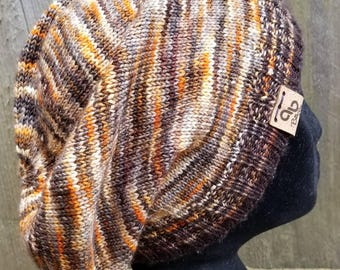 Hand knit Slouchy Sockhead Merino Cashmere OOAK