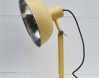 Cool original vintage industrial table light lamp with adjustable shade E27 screw in bulb desk lamp circa.1930