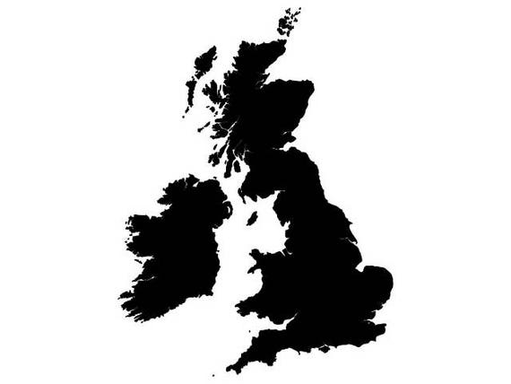United kingdom map vector digital download file dxf dwg united kingdom map vector digital download file dxf dwg svg suitable for silhouette gumiabroncs Images