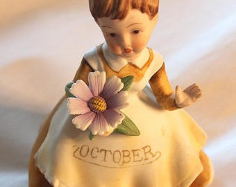 Lefton Glass porcelain doll from month of October
