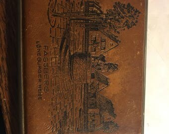 Wonderful leather bound cigarette case, from Fassberg, Luneburger Heide
