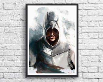 Art-Poster 50 x 70 cm - Altaïr Assassin's Creed Illustration
