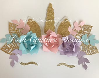 Unicorn Flower Backdrop Unicorn Backdrop  Unicorn Decorations Unicorn Letters Unicorn Wall Decor Unicorn First Birthday Unicorn Party