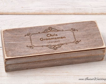 Groomsmen Gift Box Personalized Cigar Box Will You be My Groomsman Custom Cigar Box Best Man Gift Groomsman Cigar Gift Box Wedding Gift Box