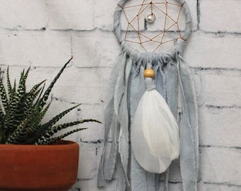 Baby Blue Mini Dream Catcher- Rearview Mirror Dream Catcher