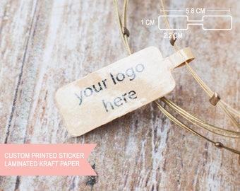 Brown kraft paper laminated Jewelry price tag stickers printing