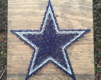 Dallas Cowboys Football Sports Team Man Cave Wall Art String Art Wood Sign Home Decor-MADE TO ORDER
