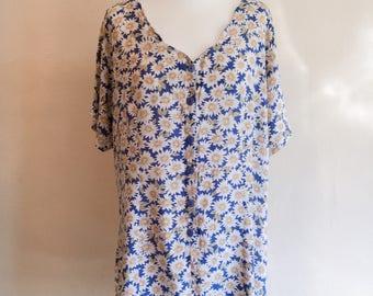 Vintage 1990s floral dress // grunge dress