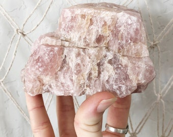 Rose Quartz Boulder raw pink quartz unconditional & self - love