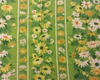 Vintage 1960s Floral Fabric