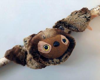 Sloth Plush (multi minky brown)