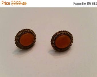 SALE Vintage Avon Earrings Orange Lucite
