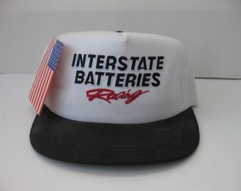 Vintage Interstate Batteries Racing snapback hat cap