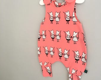 NEW mice Baby romper, baby dungarees, mouse, mice, toddler romper, toddler dungarees, baby clothes, organic clothes, christmas, dungarees
