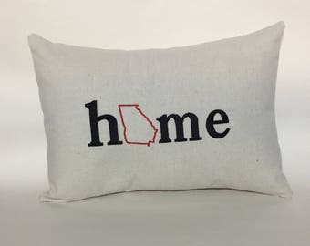 Georgia Home Pillow 12x16