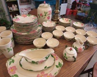 Franciscan Desert Rose Dishes Set of 58