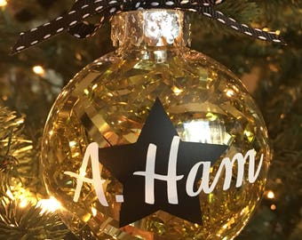 Hamilton Inspired Christmas Ornament, Hamilton Musical, Hamilton Ornament