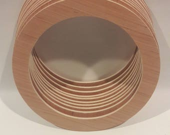 Large Plywood Rings, Large Plywood Circles