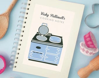 Personalised Range Cooker Notebook (3 more colours to choose)