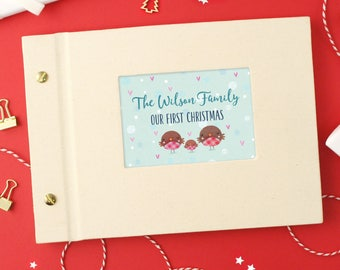 Personalised Mini First Christmas Family Photo Album