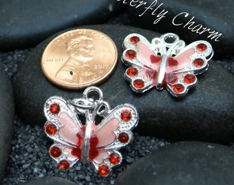 Butterfly Pink w/red stones