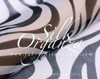 Zebra fabric Silk Tulle Fabric by the yard
