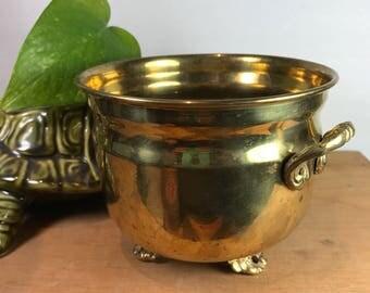 Vintage brass planter Large