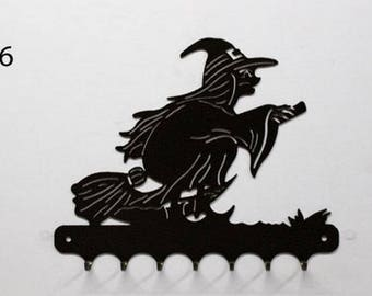 Hangs 26 cm pattern metal keys: witch 2