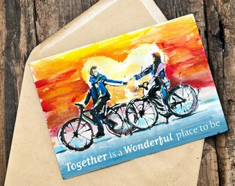 A5 Cycling Card | TOGETHER - is a wonderful place to be.