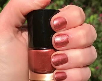 MELODY - Deep Lipstick Pink Color Stardust Doctor Who Inspired Nail Polish - Cotton Candy Scented - 5-Free & Cruelty Free
