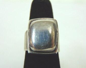 Vintage Estate .925 Sterling Silver Modern Contemporary Ring, 13.5g E3191