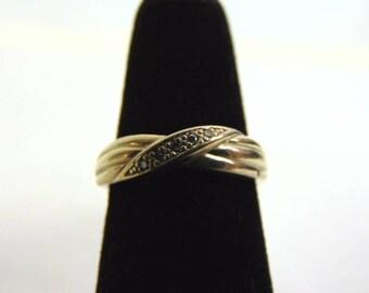 Womens Vintage Estate 14K Yellow Gold & Diamond Ring 3.0g E3460