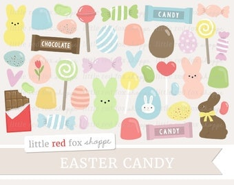 Easter Candy Clipart, Easter Clip Art, Easter Egg Clipart, Candy Clipart, Bunny Clipart, Cute Digital Graphic Design Small Commercial Use