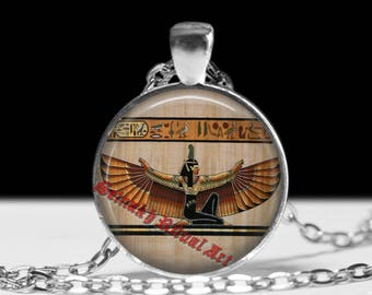 Isis pendant, Egyptian jewelry,  sacred, hermetic antique jewelry #486