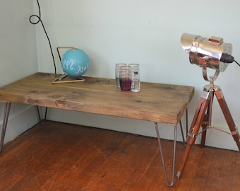 Industrial Coffee Table / End Table /Side table Mid Century Style 100cm x 40cm