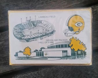 vintage GREEN BAY PACKERS deck of Playing Cards sealed in box New Lambeau Field