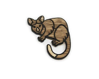 Wooden Possum Pin