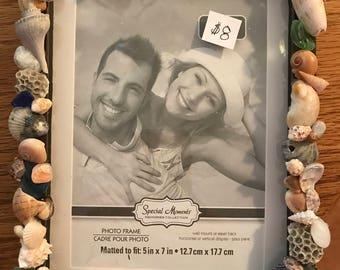 Sea Shell Picture Frame. Unique Gift