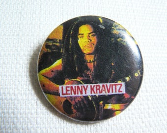 Vintage Early 90s Lenny Kravitz Pin / Button / Badge