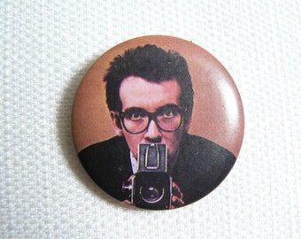 Vintage Late 70s Elvis Costello and the Attractions - This Year's Model Album (1978) Pin / Button / Badge
