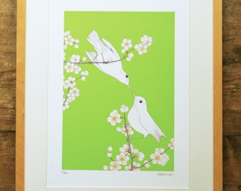 Blossoming Love limited edition A3 print