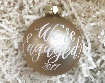 Engagement Ornament - Engagement Christmas Ornament - Just Engaged Gift- Wedding Ornament- Engaged Ornament